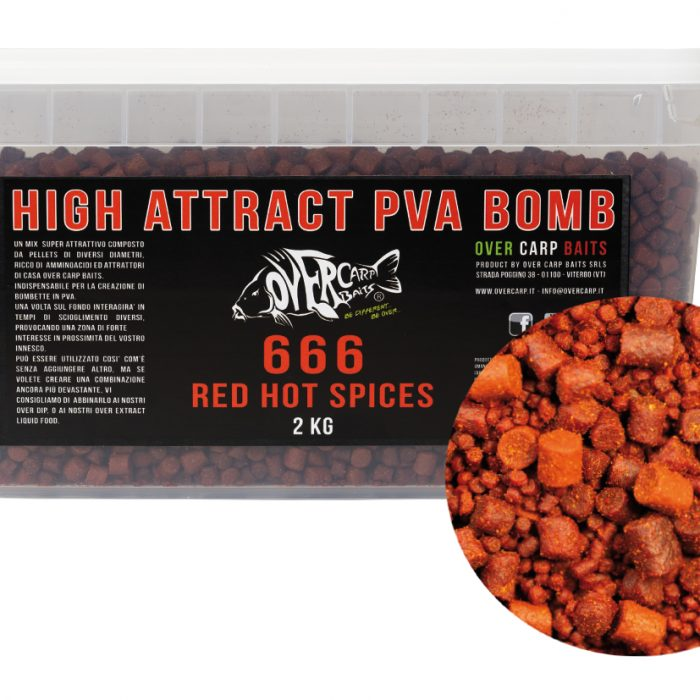 666 RED HOT SPICES PVA BOMB 2 Kg